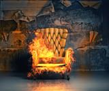 burning armchair