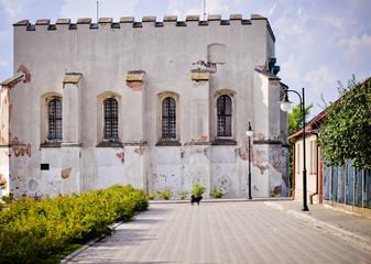 Jewish synagogue in Szydlow, Poland