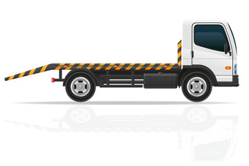 tow truck for transportation faults and emergency cars vector il