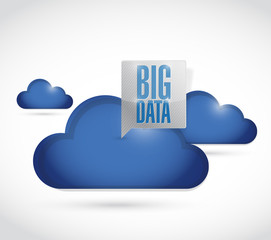 big data clouds illustration design