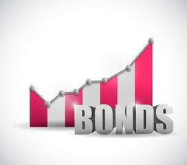 bonds business graph illustration design
