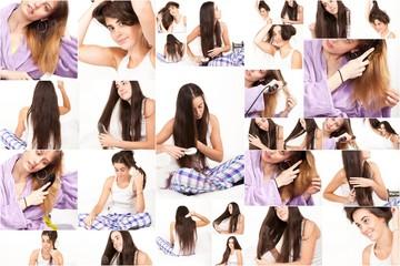 femmes se coiffant