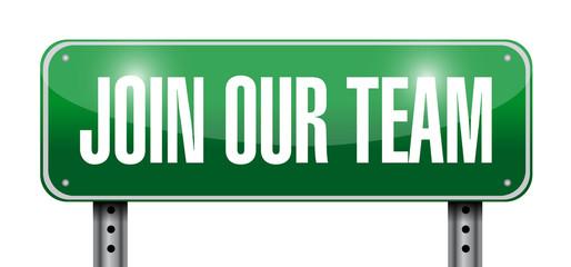join our team sign illustration design