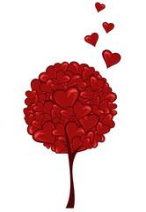 heart tree decorative design