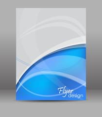 Abstract flyer or brochure template, editable vector design
