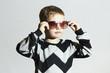 Fashionable boy in sunglasses.Little boy.Kids fashion
