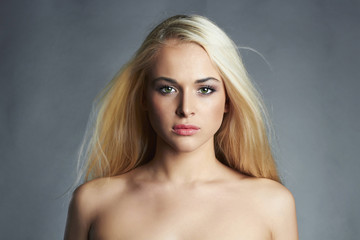 beautiful young woman.Sexy blond girl.healthy hair.Beauty salon