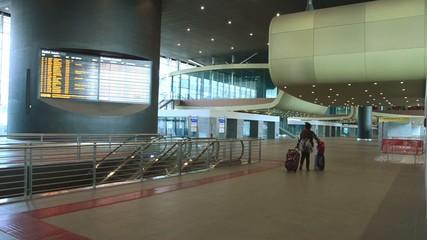 passenger walking at terminal station