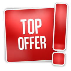 Top offer red icon button