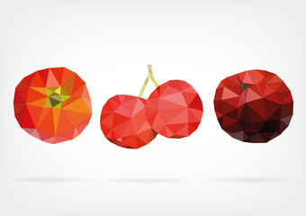 Low Poly Acerola fruit