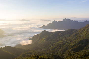 Sunrise at Phu chi fa, Chiang Rai, Thailand.