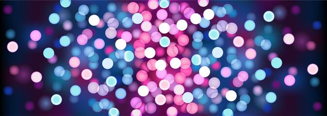 Purple festive lights. Vector illustration.