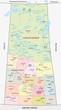 ������, ������: saskatchewan administrative map