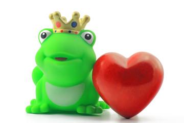 frosch mit herzen