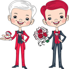 Vector fashion elegant groom
