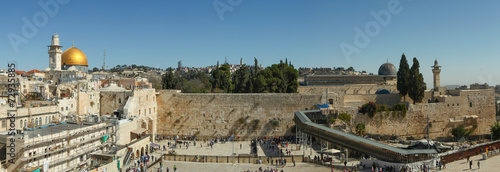 Foto op Canvas Temple The Wailing wall - Jerusalem Israel