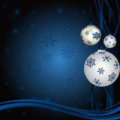 Blue Snowflakes With Blue Snow Balls