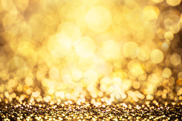 classic gold color bokeh glitter background