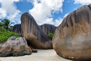 Boulders on Beach in Seychelles