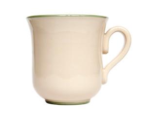 Ceramic mug isolated on white background