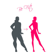 Slim and fat girls
