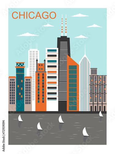 stylizowane-miasto-chicago-wektor