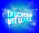 Management concept: enhanced use lease words on digital screen poster