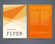 Flyer / brochure design template a4 format with geometric abstra - 72939682