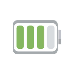 Battery load icon, vector flat illustration.