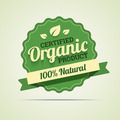 Organic product badge. Vector illustration in EPS10.