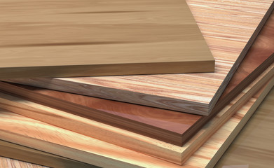 CPD with the texture of the tree. Laminate boards