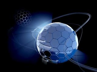 Fantasy cells globe - Earth. Technology 3d illustration