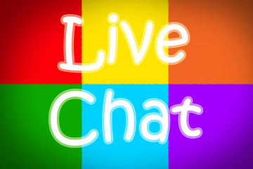 Live Chat Concept