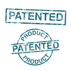 Patented product vector stamps