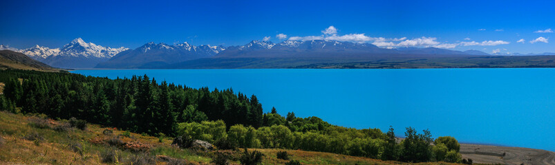 View of Mt. Cook from Lake Pukaki, New Zealand