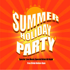 Vector of Summer holiday party poster background