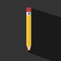 Pencil with Long shadow