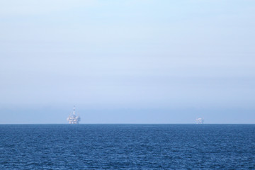 Two Oil Rigs