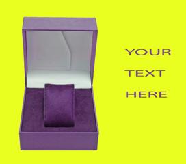 purple open box
