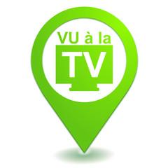 vu à la télévision sur symbole localisation vert