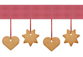 Weihnachtsgebäck mit Karostoff