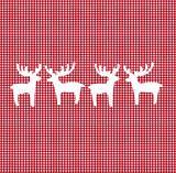 Karostoff mit Hirschen