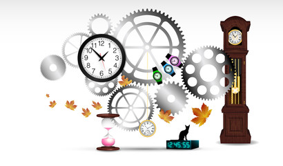 ingranaggi, orologi, tempo
