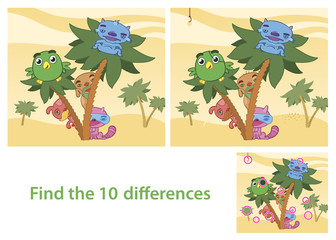 Spot the Differences Skill Game with Answer Image