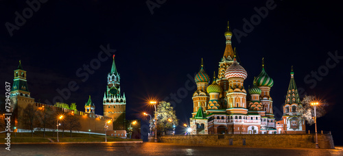 Keuken foto achterwand Oost Europa Red Square at the evening, Moscow, Russia