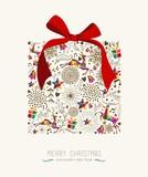 Fototapety Vintage Christmas gift greeting card