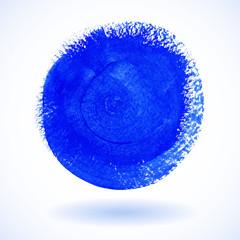 Blue Circle Watercolor Banner. Vector illustration