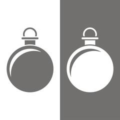 Icono bola de navidad BN
