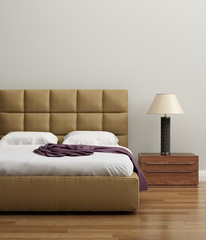Contemporary elegant luxury lime bedroom