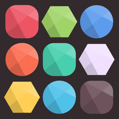 Flat Background Faceted Shapes for Icons.
